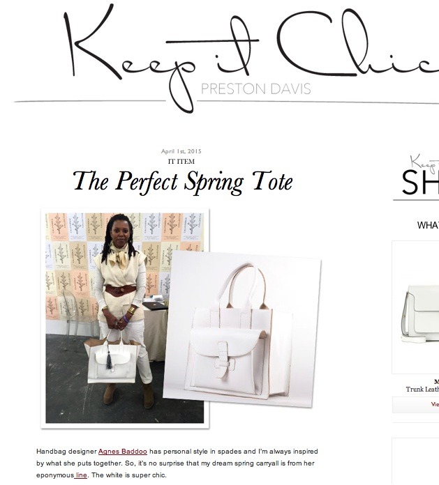 keep it chic white tote